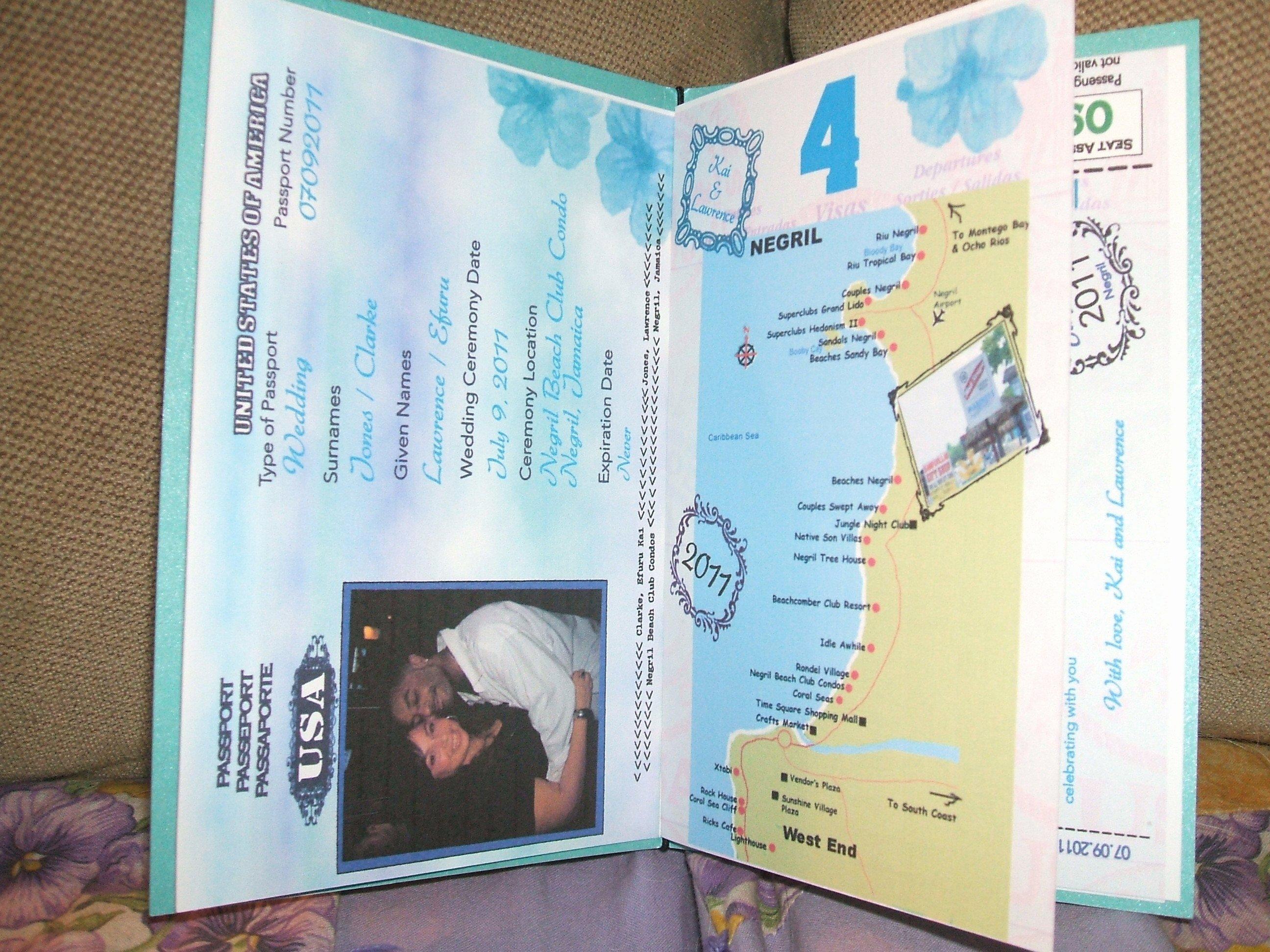 Passport Style Wedding Invitations