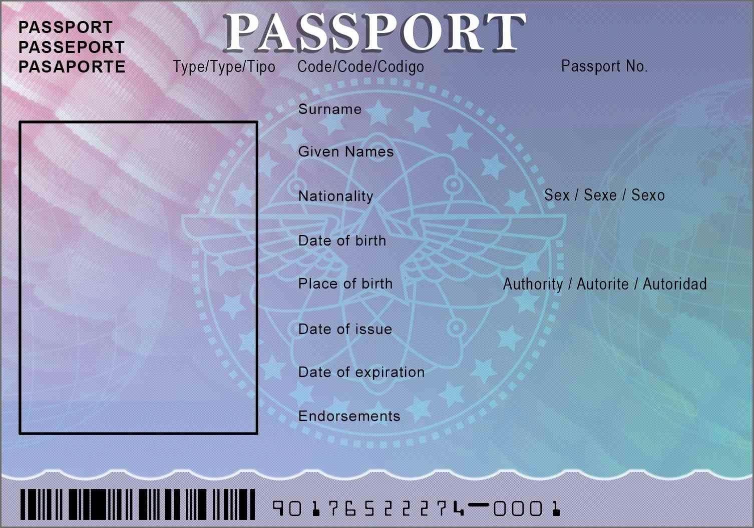 Passport Template Beautiful Template Design Ideas
