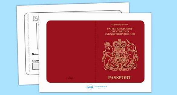 Passport Templates – Free Word Pdf Psd Illustrator