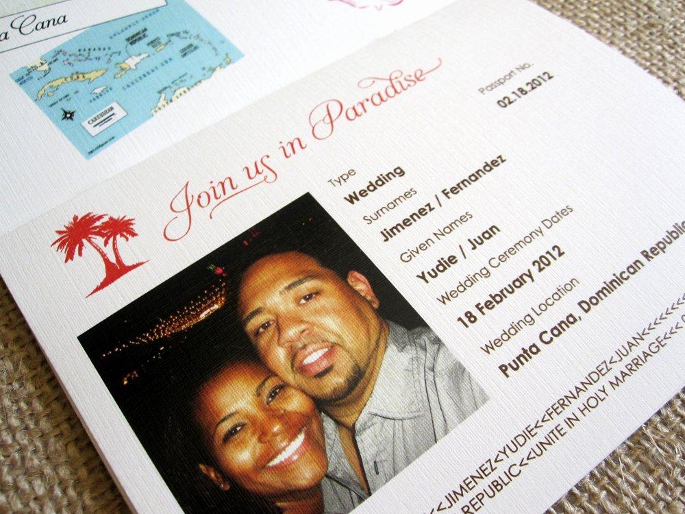 Passport to Paradise Wedding Invitation Ap Desi with