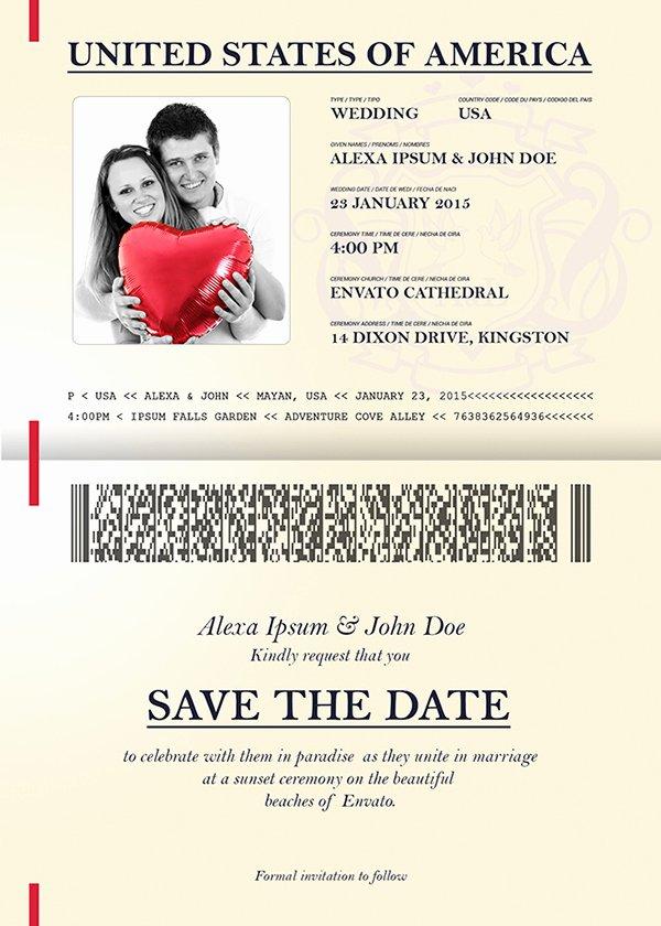 Passport Wedding Invitation & Save the Date On Behance