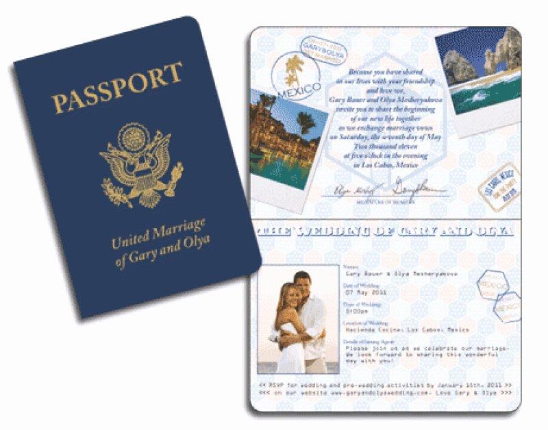 Passport Wedding Invitation Template – orderecigsjuicefo