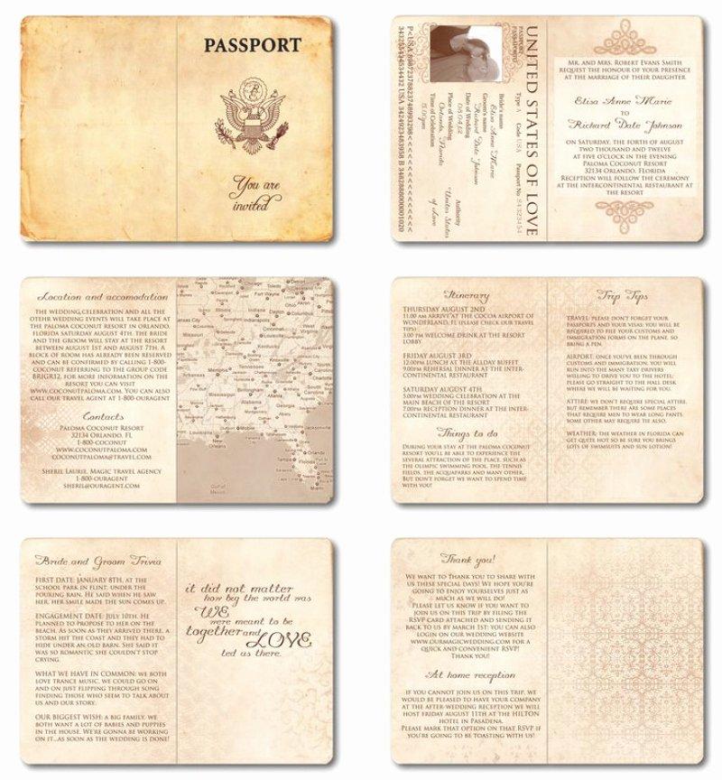 Passport Wedding Invitations Template – orderecigsjuicefo