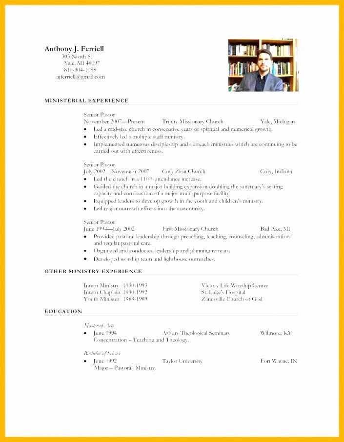 Pastor Resume Cover Letter Pastor Resume Cover Letter