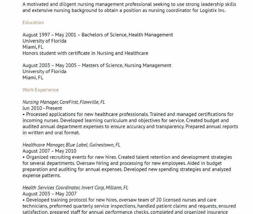 Patient Care Coordinator Resume – Bezholesterol
