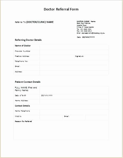 Patient Referral form Template – Azserverfo