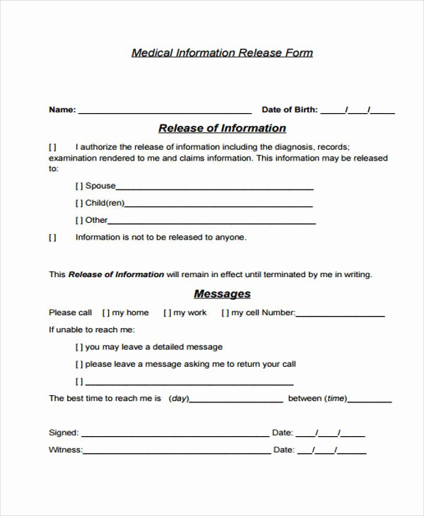 Patient Release form Template