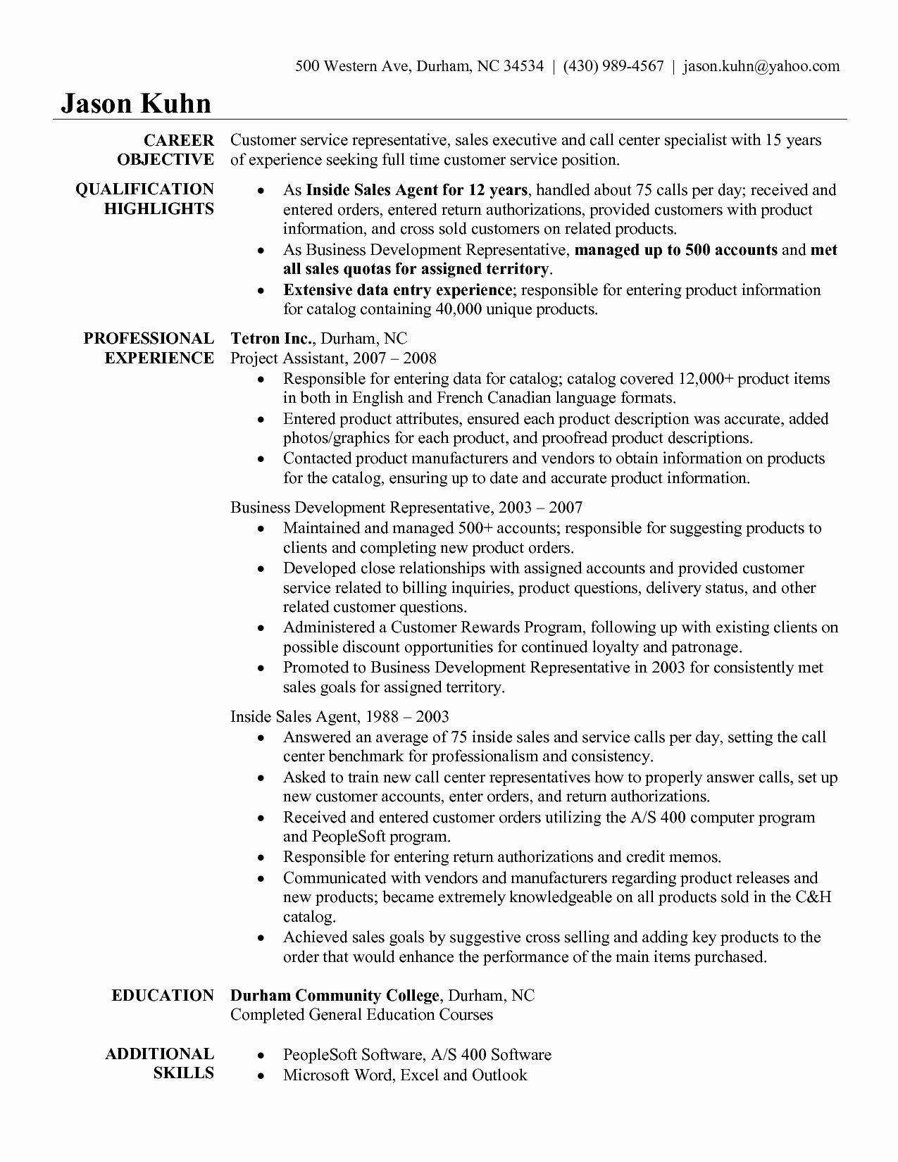 Patient Service Representative Resume Template