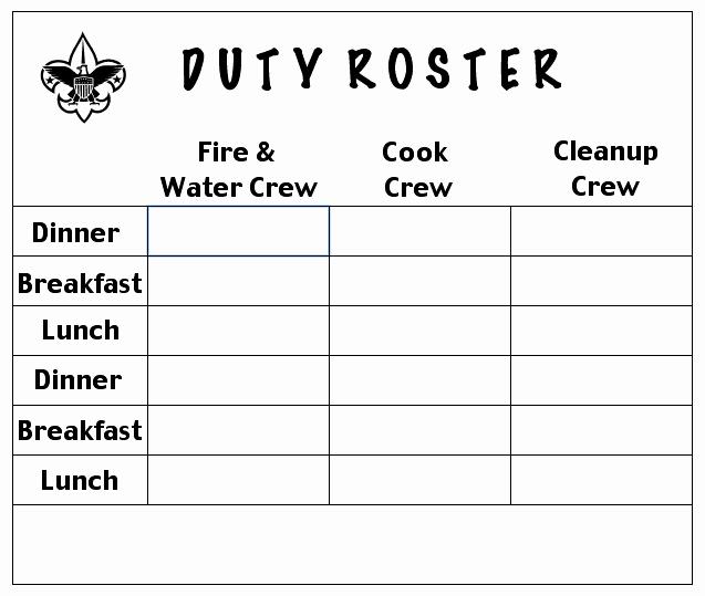 Patrol Duty Roster
