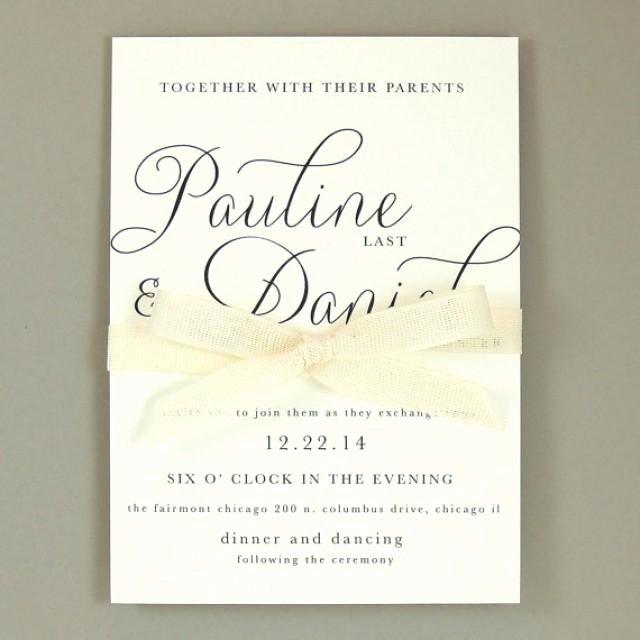 Pauline Suite Modern Elegant Wedding Invitation