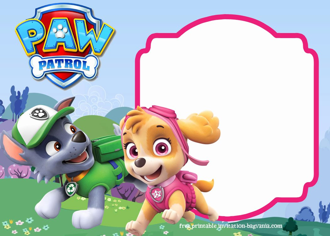Paw Patrol Birthday Invitation Templates – Most Plete