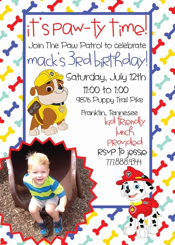 Paw Patrol Birthday Printable Invitation