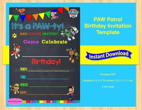 Paw Patrol Invitation Template
