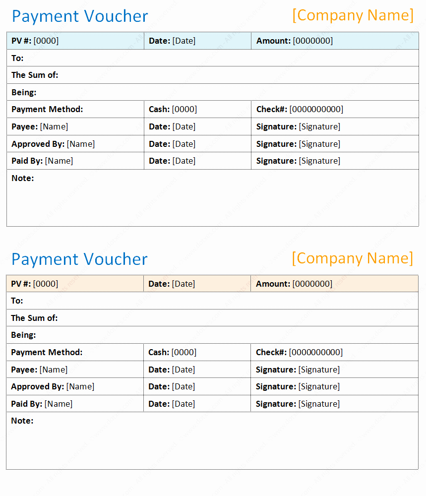 Payment Voucher Template In Microsoft Word Dotxes