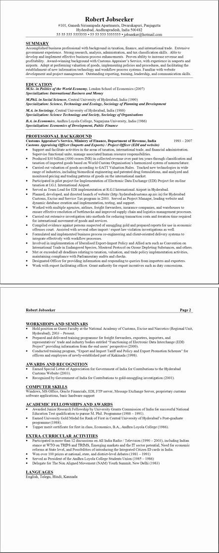 Payroll Administrator Resume Template