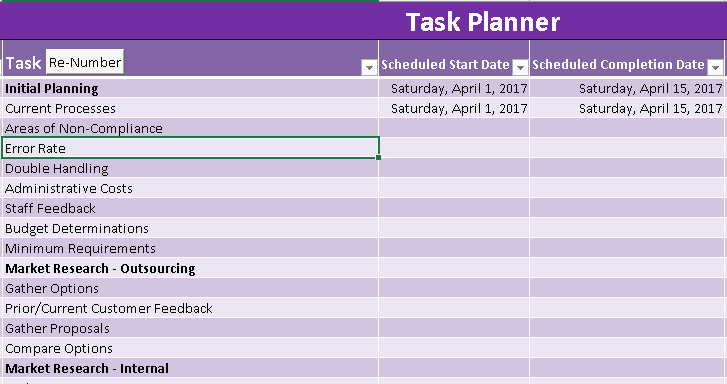Payroll Implementation Project Plan Template Excel