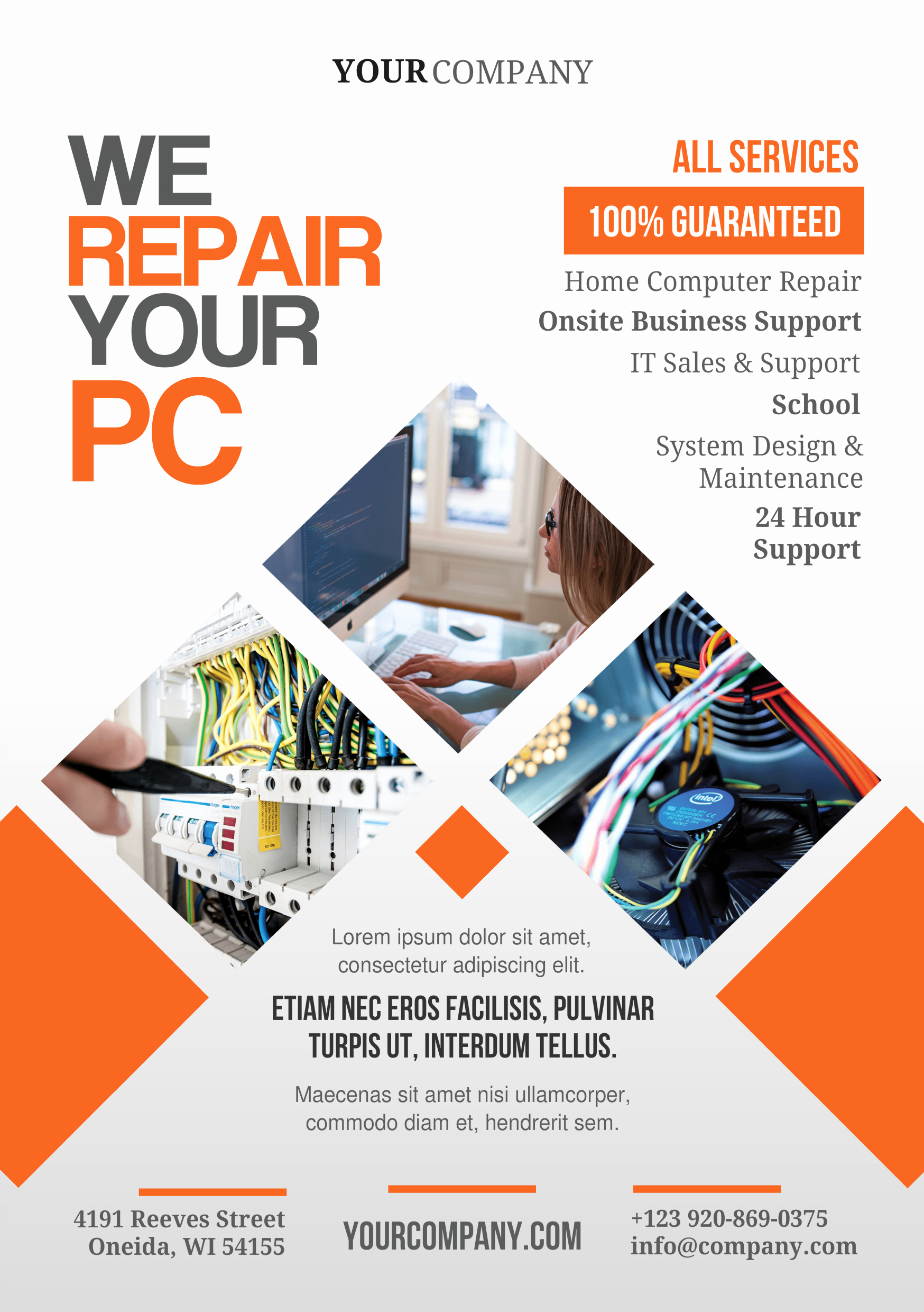 Pc Repair A5 Promotional Flyer