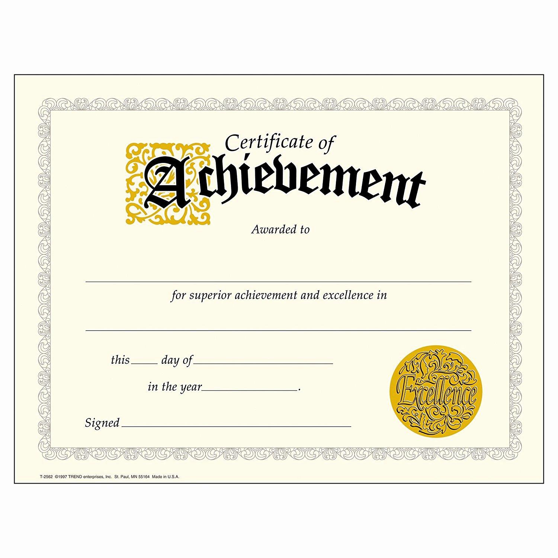 Pdf Achievement Certificates Templates Free