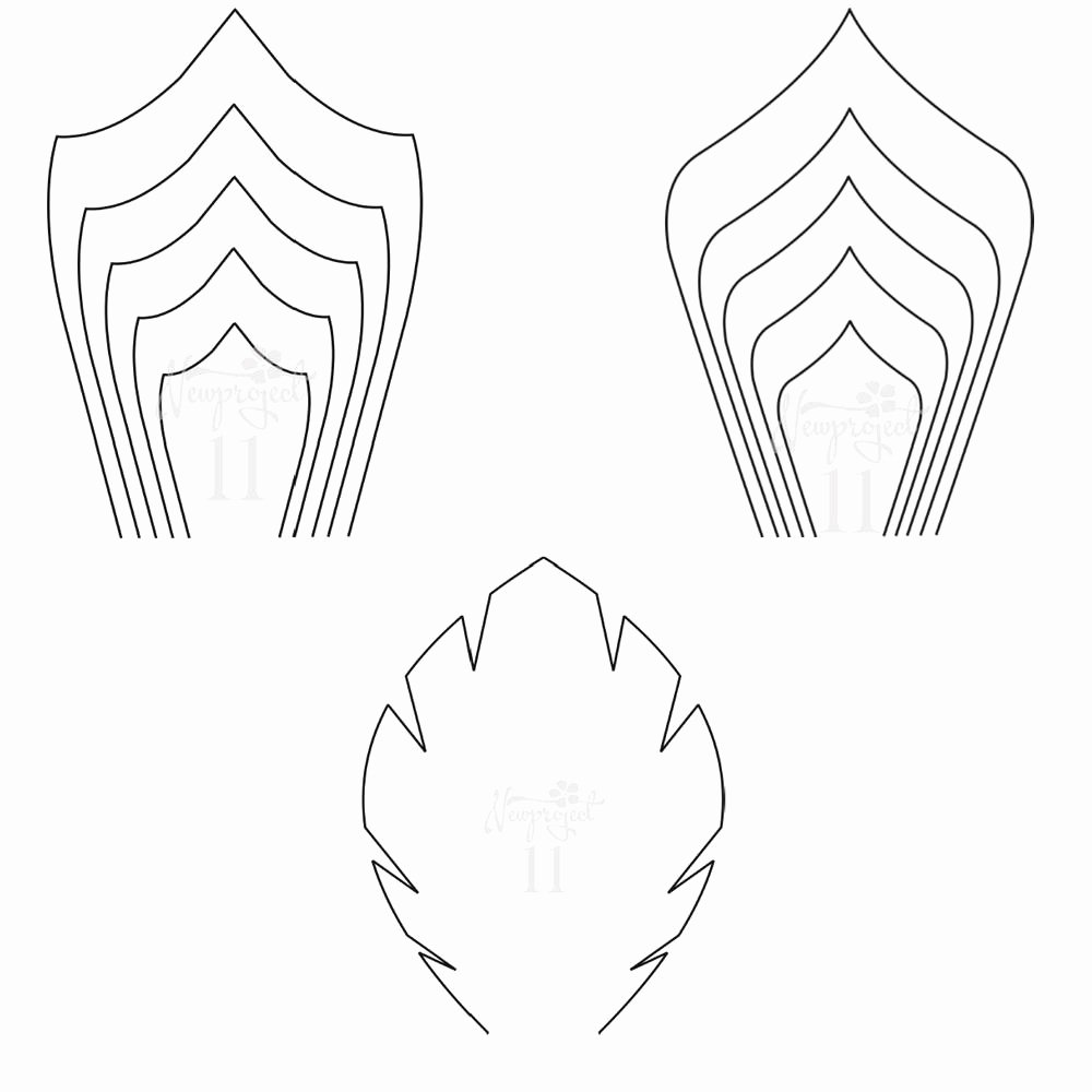 Pdf Set Of 2 Flower Templates and 1 Leaf Template Giant