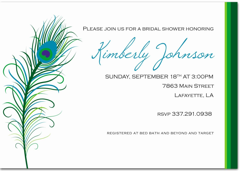 Peacock Invitation Templates