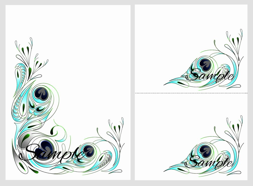 Peacock Wedding Invitations Cheap Template