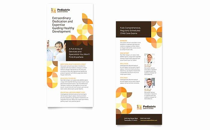 Pediatric Doctor Rack Card Template Design