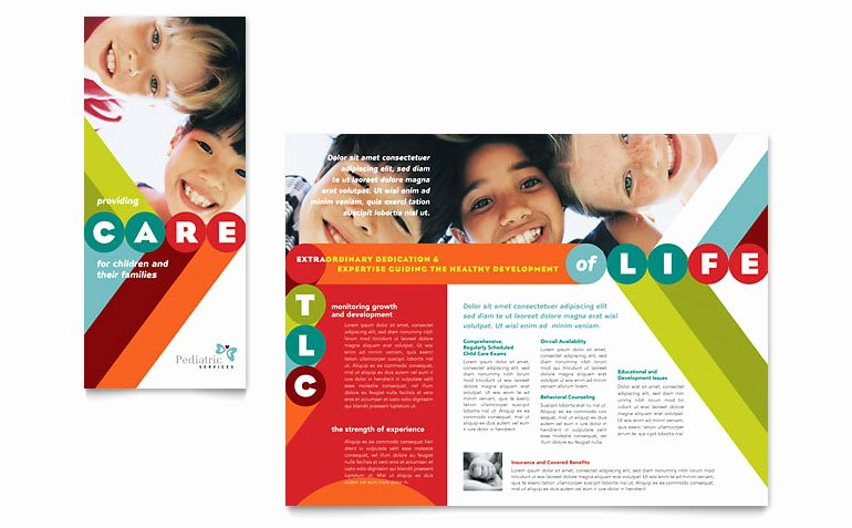 Pediatrician & Child Care Brochure Template Word & Publisher