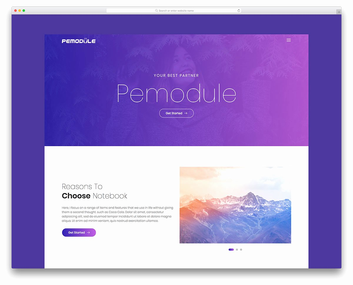 Pemodule Free Website Template for Graphy Portfolio