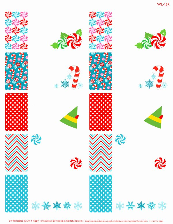 Peppermint Please Christmas Printable Labels & Tags