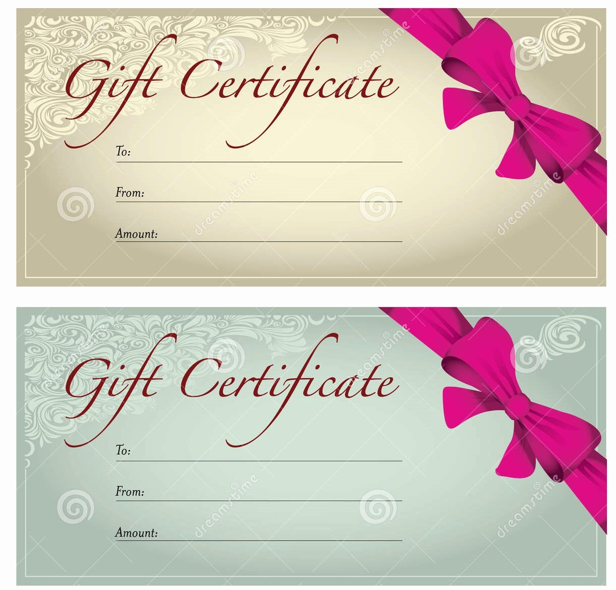Perfect format Samples Of Gift Voucher and Certificate