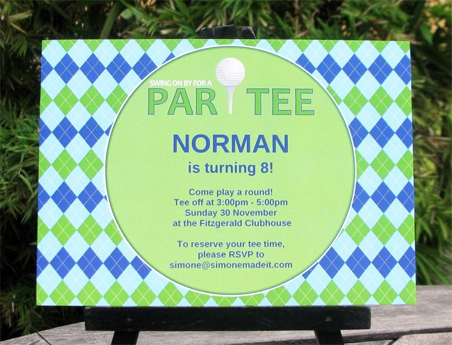 Perfect Free Golf Party Invitation Templates for