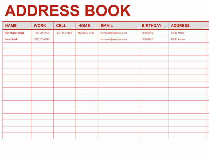 Personal Address Book