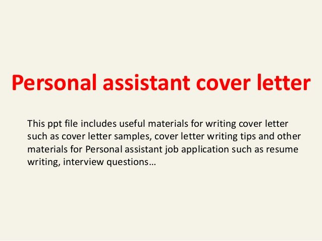 Personal assistant Cover Letter
