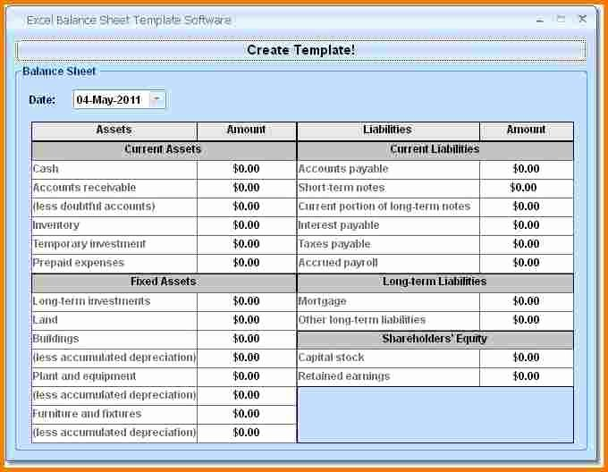 Personal Balance Sheet Excel