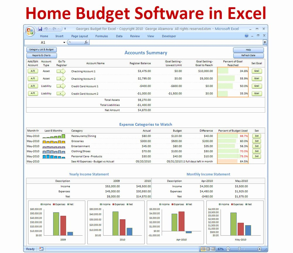 Personal Bud Ing software Excel Bud Spreadsheet