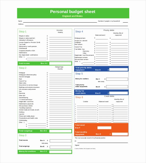 Personal Bud Template – 10 Free Word Excel Pdf