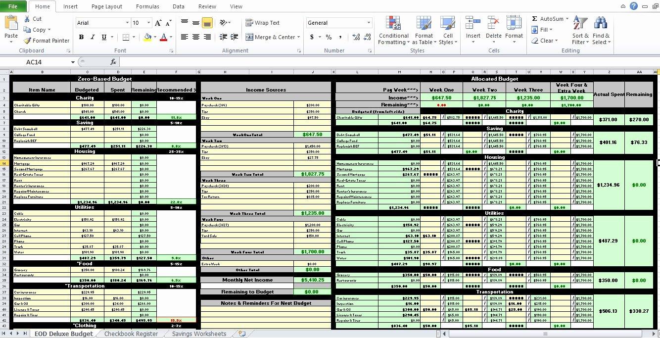 Personal Bud Worksheet Excel Excel Tmp