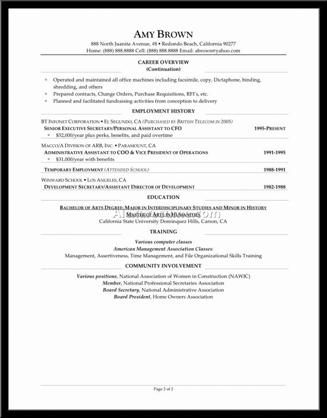 personal care assistant resume