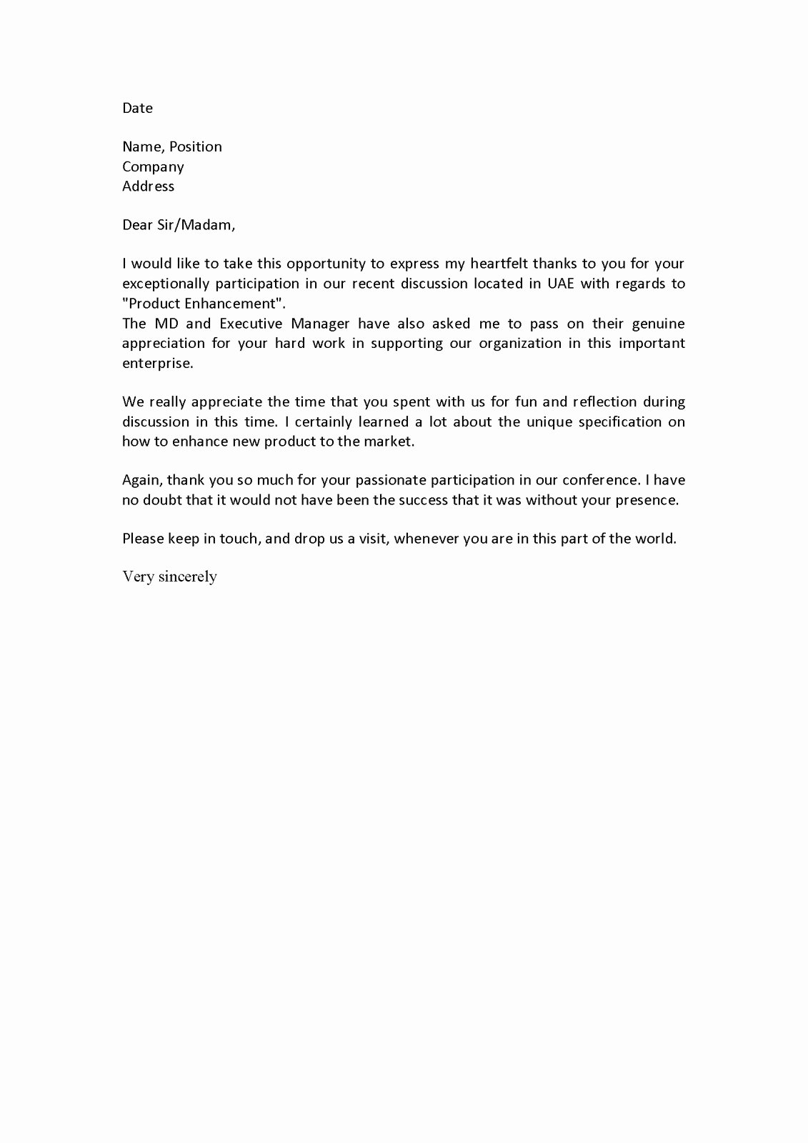 Personal Character Reference Letter Sample Writing A