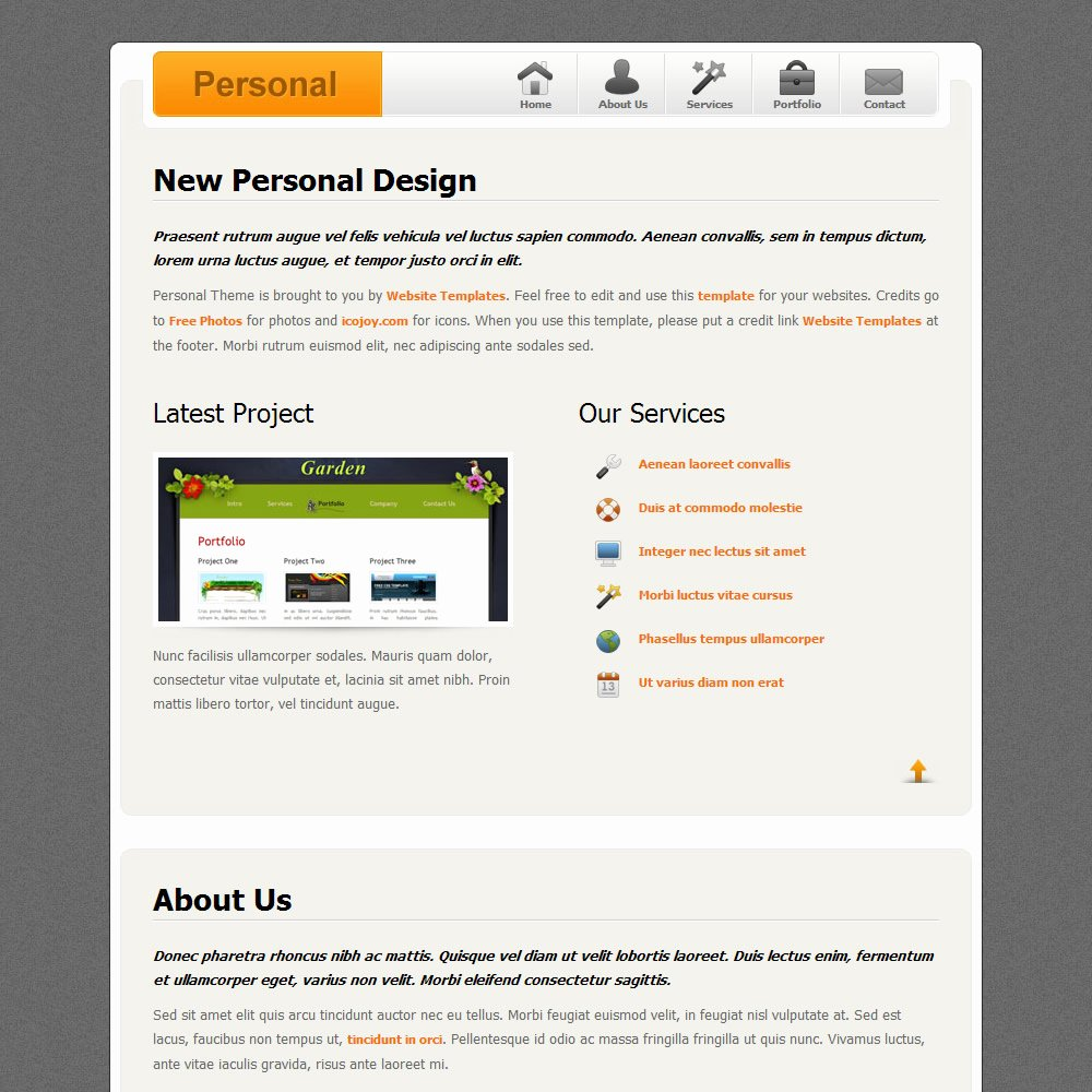Personal Design Free Templates