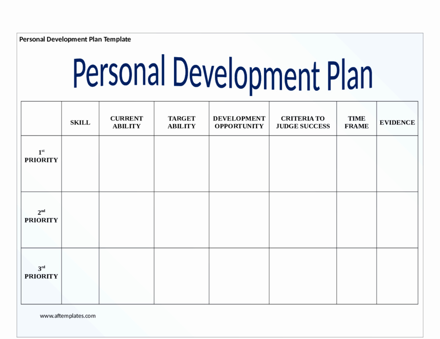 Personal Development Plan Template How to Write Personal
