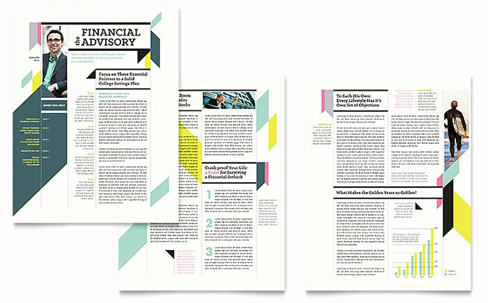 Personal Finance Newsletter Template Word & Publisher