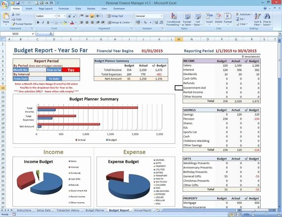 Personal Financial Plan Excel Spreadsheet Personal