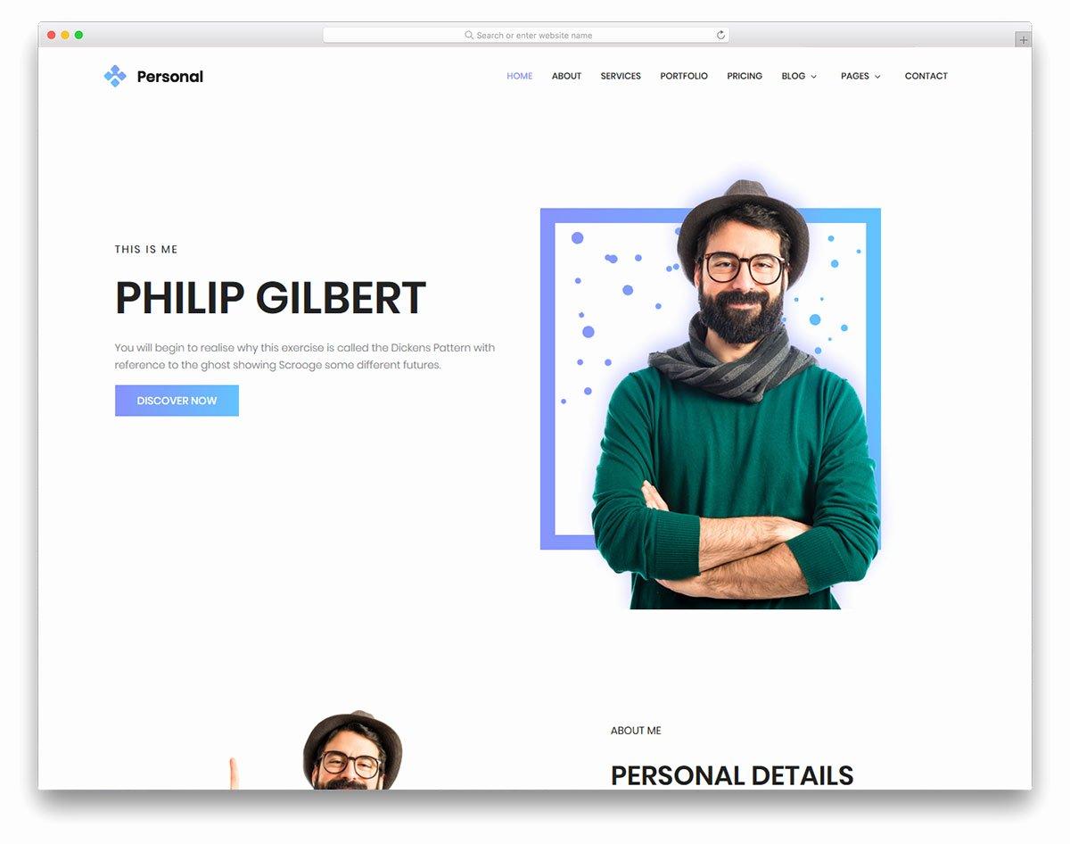 Personal Free Personal Portfolio Website Template Colorlib