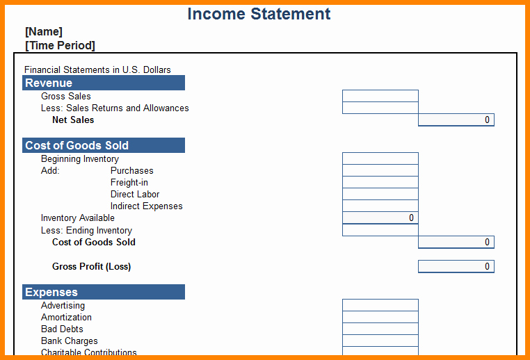 Personal In E Statement Template