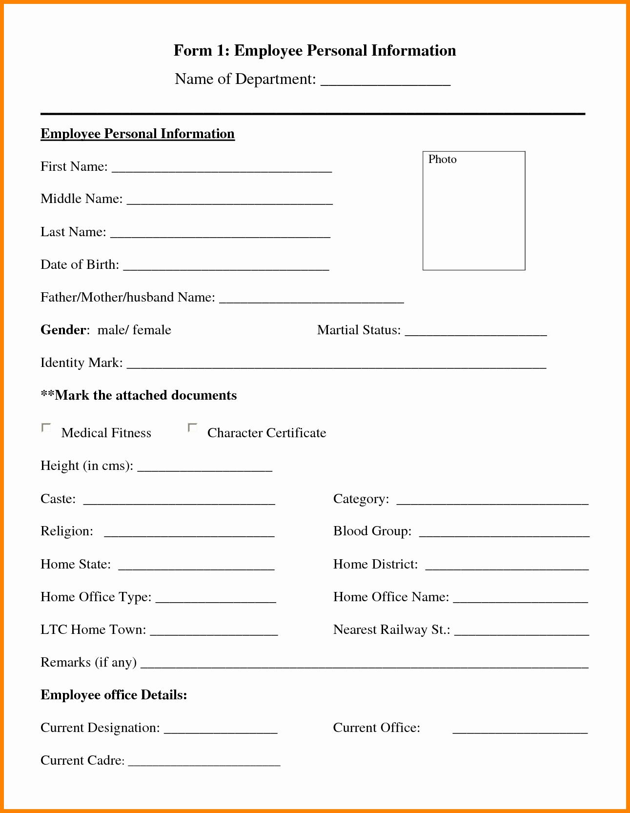 Personal Information Template Portablegasgrillweber