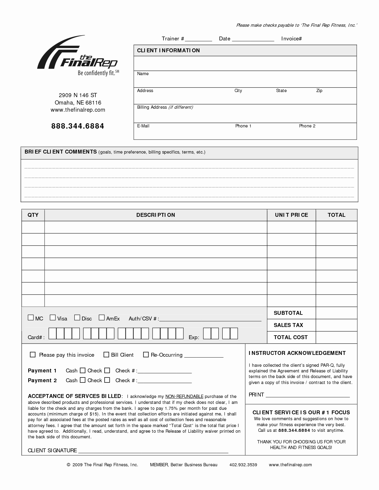Personal Invoice Template
