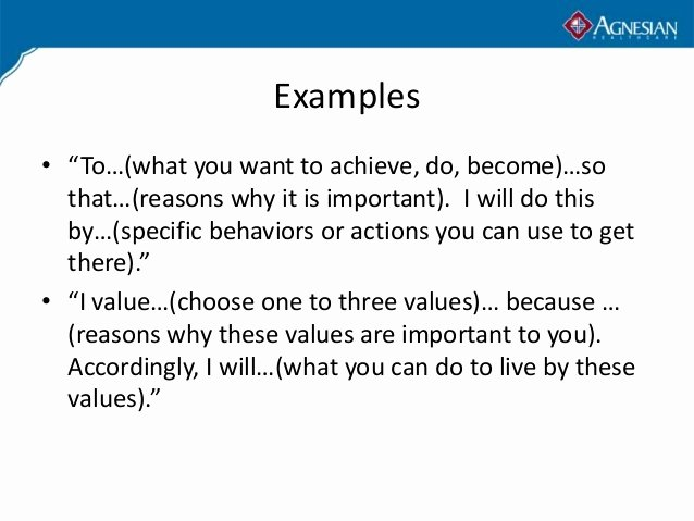 Personal Mission Statement Examples Alisen Berde