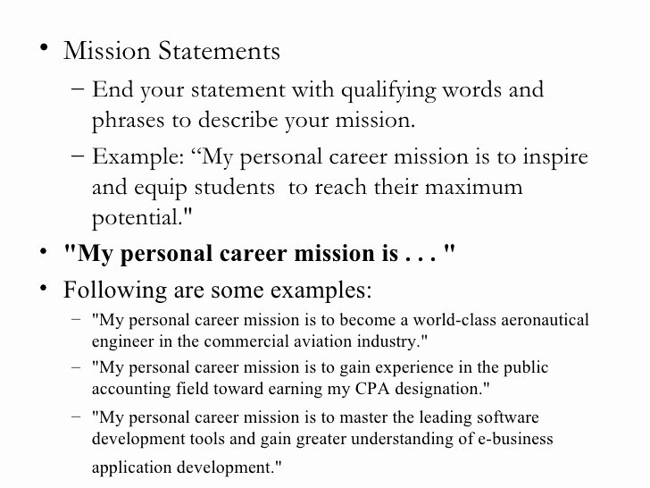 Personal Mission Statements College Homework Help and