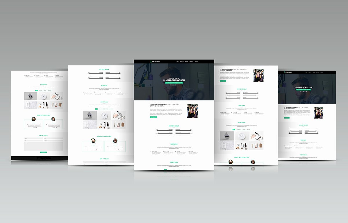 Personal Portfolio Template Free Download On Student Show
